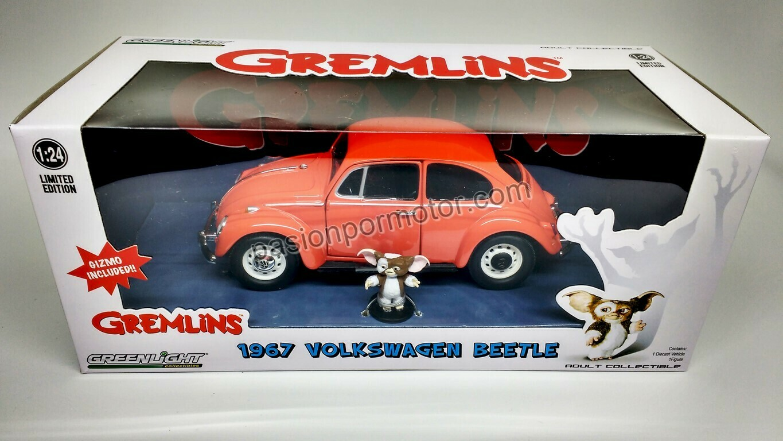1:24 Volkswagen Beetle 1967 Naranja Con Gizmo de Gremlins Greenlight