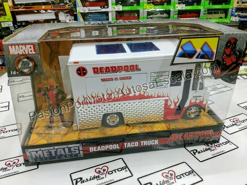 1:24 Taco Truck Deadpool Food Truck Jada Toys Metals C Caja Marvel