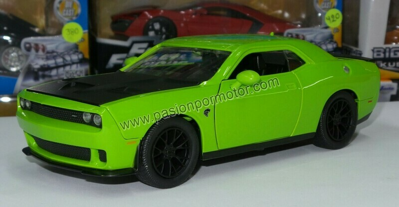 1:24 Dodge Challenger SRT Hellcat 2015 Naranja Jada Toys Big Time Muscle En Display / A Granel