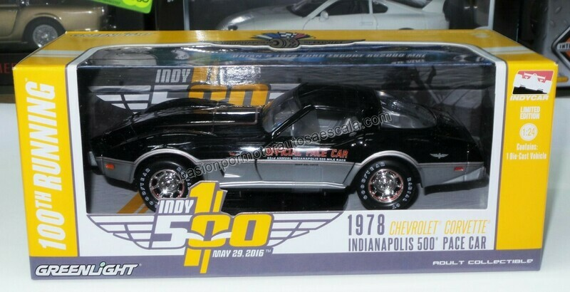 1:24 Chevrolet Corvette 1978 Indianapolis Indy 500 Pace Car Greenlight