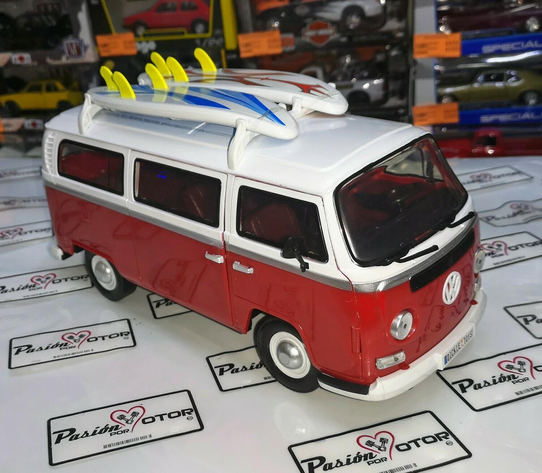1:14 Volkswagen Type 2 T2 Combi 1971 Roja Bus Dickie Toys