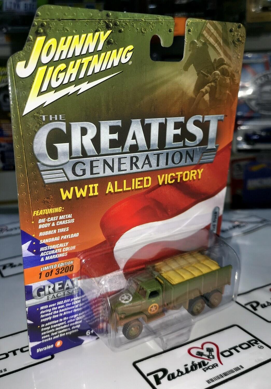 1:86 GMC CCKW 6x6 2 1/2 Ton Militar Johnny Lightning 1:64
