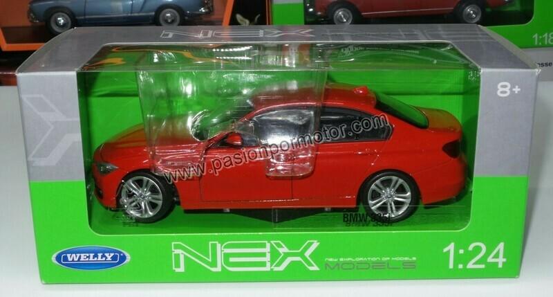 1:24 BMW 335i Rojo Serie 3 2012 Welly C Caja