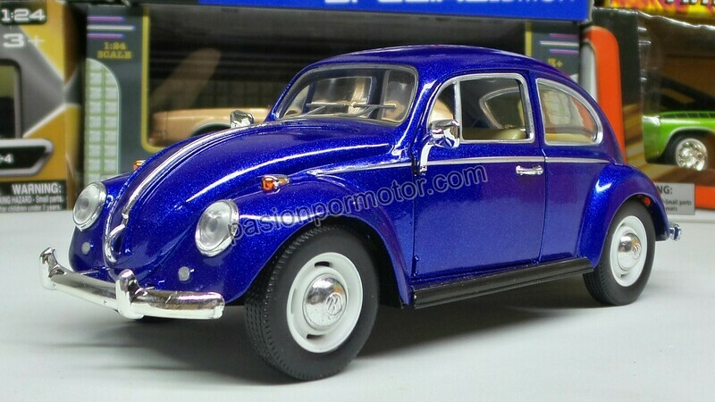 1:24 Volkswagen Beetle 1967 Classic Azul Marino Kinsmart En Display / A Granel