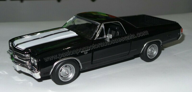 1:25 Chevrolet El Camino SS 1970 Negro Pick Up New Ray C Caja