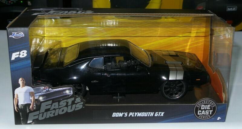 1:24 Plymouth GTX 1972 Dom's Toretto Rapido Y Furioso 8 Jada Toys En Caja