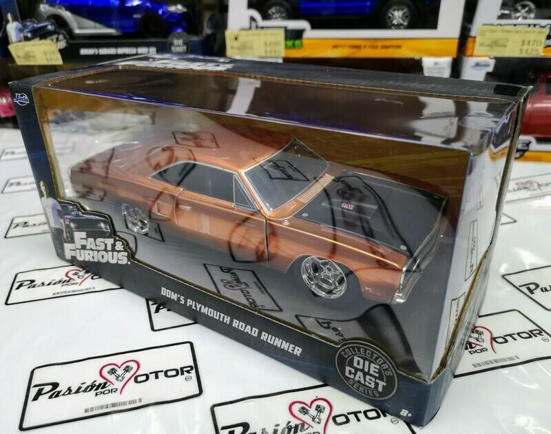 1:24 Plymouth Road Runner 1970 Dom's Toretto Cobre Rapido Y Furioso 7 Jada Toys En Caja