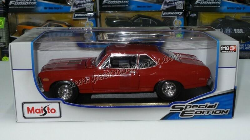 1:18 Chevrolet Nova SS Coupe 1970 Rojo Maisto Special Edition