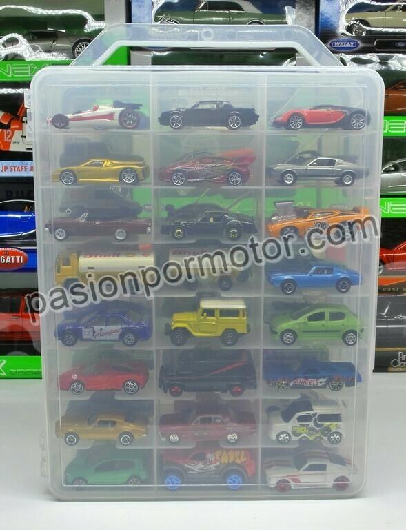 Maleta Coleccionador En Plastico Transparente Para 48 Hot Wheels Autos en 1:64