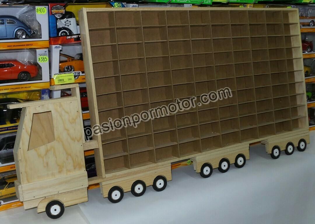 Camion Coleccionador Repisa Para Colgar, En Madera Para 100 Pz Tipo Hot Wheels 1:64
