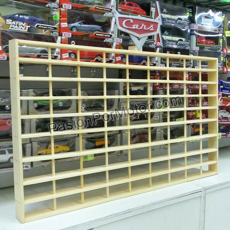 1:55 Coleccionador de Pared Repisa En Madera Basico Para 81   Piezas de Cars