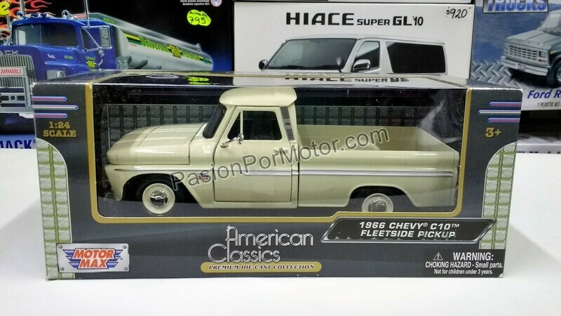 1:24 Chevrolet C10 Pick Up 1966 Beige Motor Max C Caja