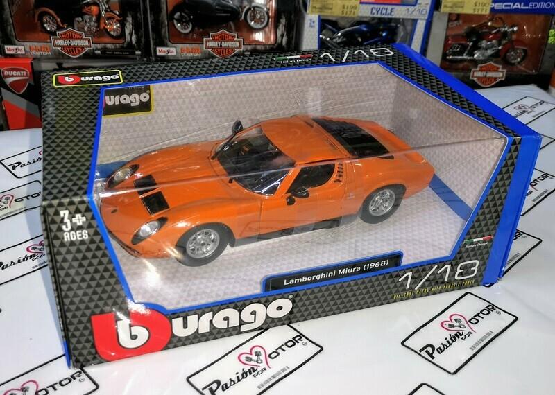1:18 Lamborghini Miura 1968 Naranja Bburago