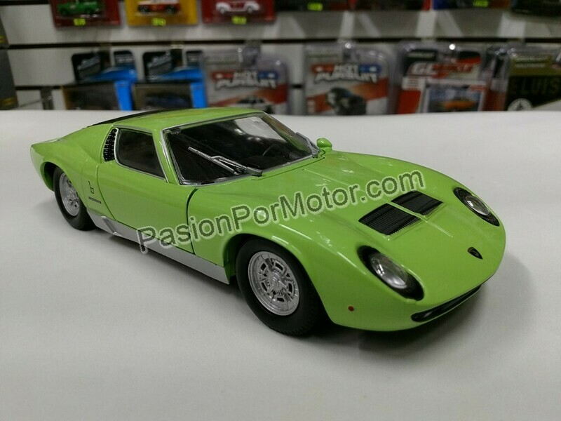 1:24 Lamborghini Miura P 400 S 1969 Verde Motor Max C Caja