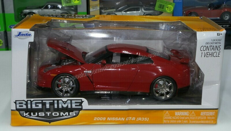 1:24 Nissan GT-R R35 2009 Rojo Jada Toys Big Time Kustoms C Caja