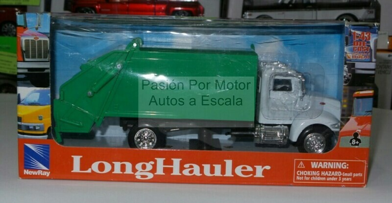 1:43 Peterbilt Model 335 Recolector de Basura Blanco c Verde New Ray