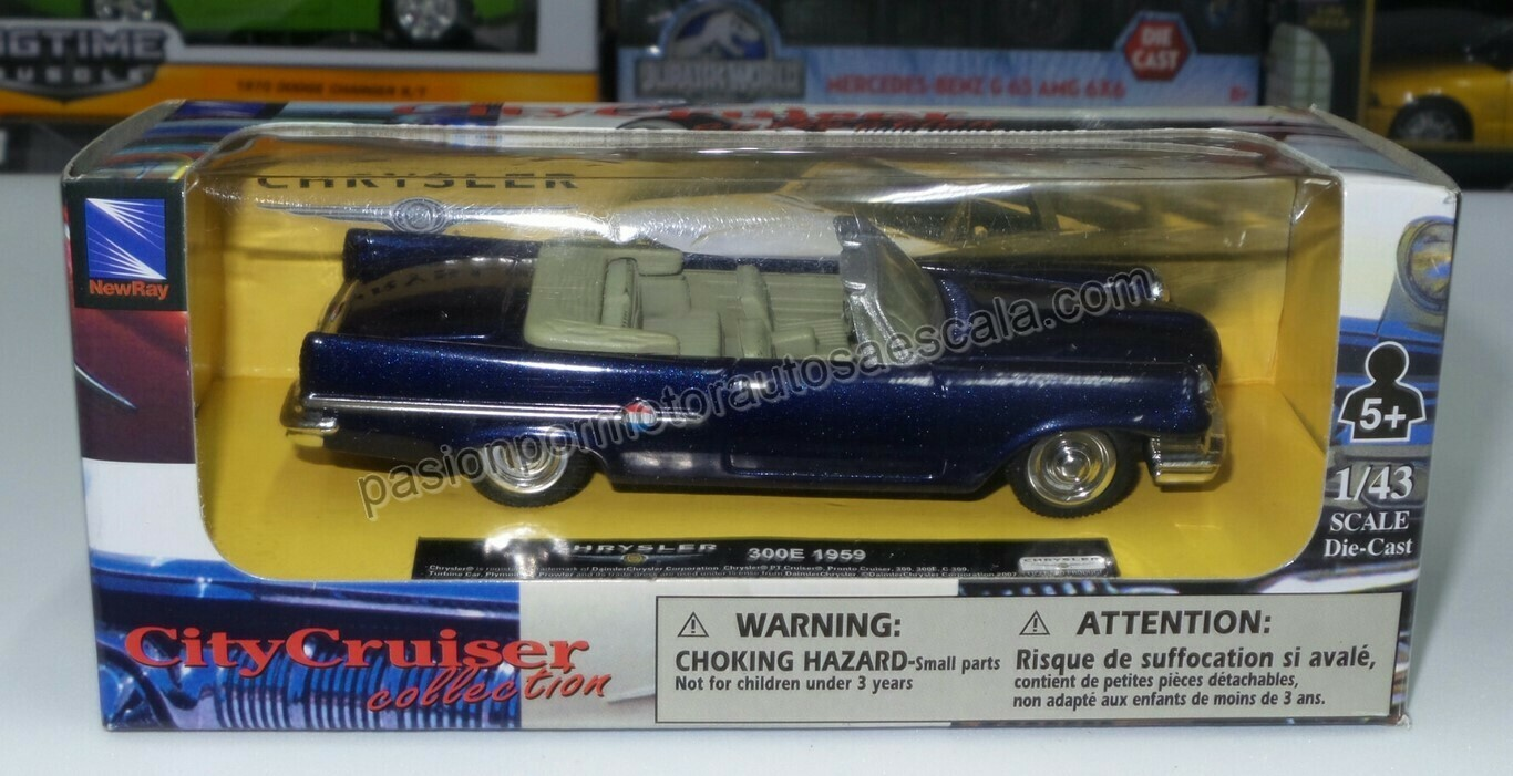 1:43 Chrysler 300E Convertible 1959 Azul New Ray
