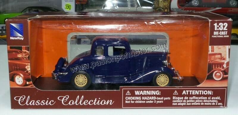 1:32 Chevrolet Coupe 5 Window 1933 Azul New Ray