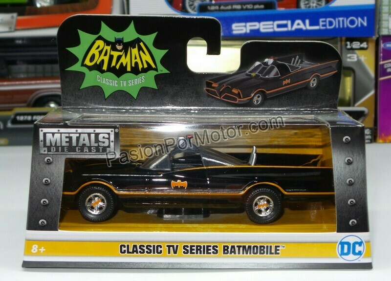 1:32 / 1:43 Batimovil Classic TV Series 1966 Batman Jada Toys Metals DC Comics En Caja