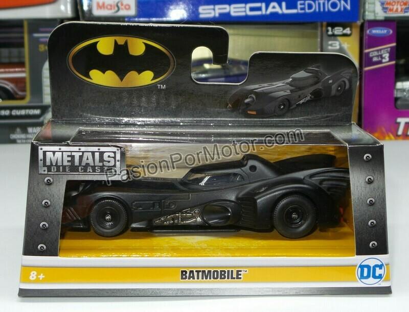 1:32 / 1:43 Batimovil Batman 1989 - 1992 Jada Toys Metals DC Comics En Caja