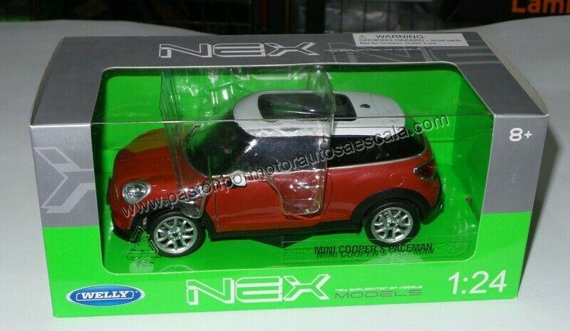 1:24 Mini Cooper S Paceman 2012 Rojo Welly C Caja