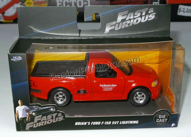 1:32 Ford F-150 SVT Lightning 1999 Roja Brian´s Rapido y Furioso En Caja