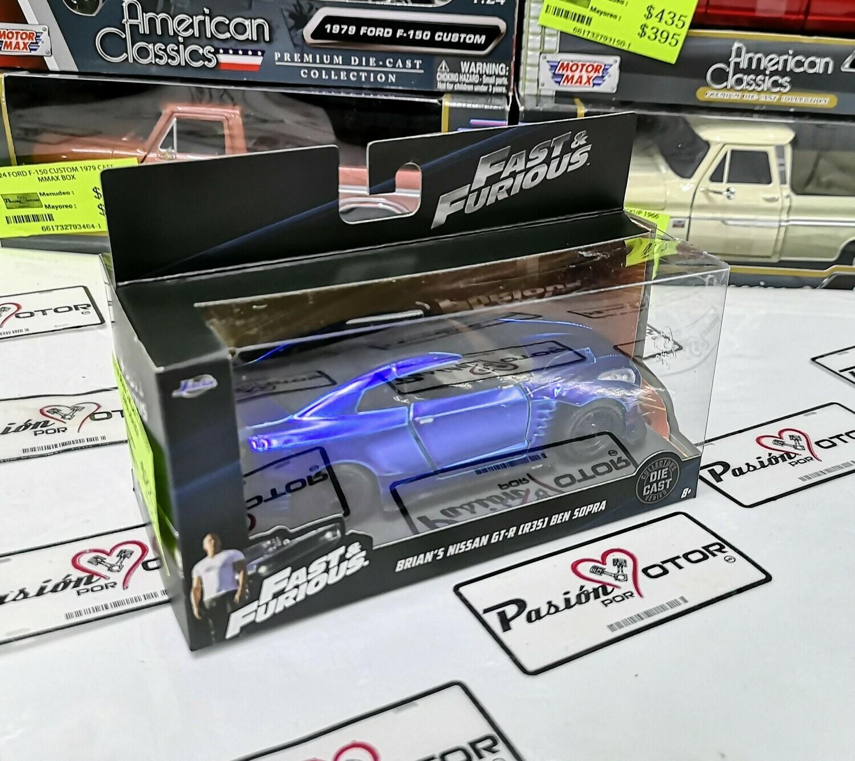 1:32 Nissan GT-R R35 Ben Sopra 2009 Azul Jada Toys Rapido y Furioso  En Caja