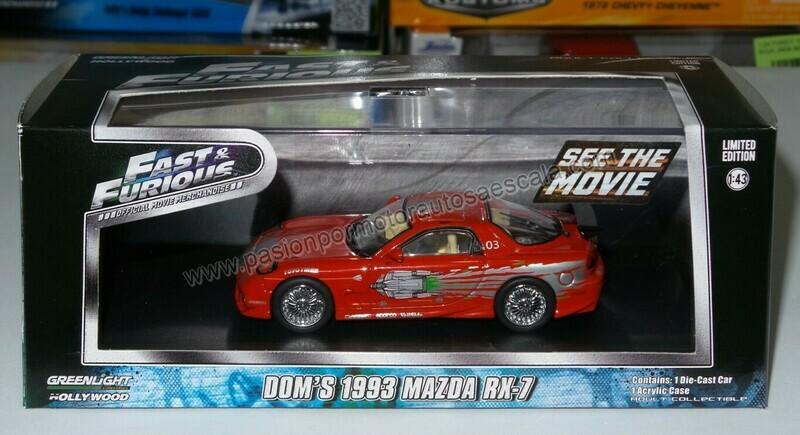 1:43 Mazda RX-7 1993 Dom's Toretto Rapido y Furioso de Greenlight