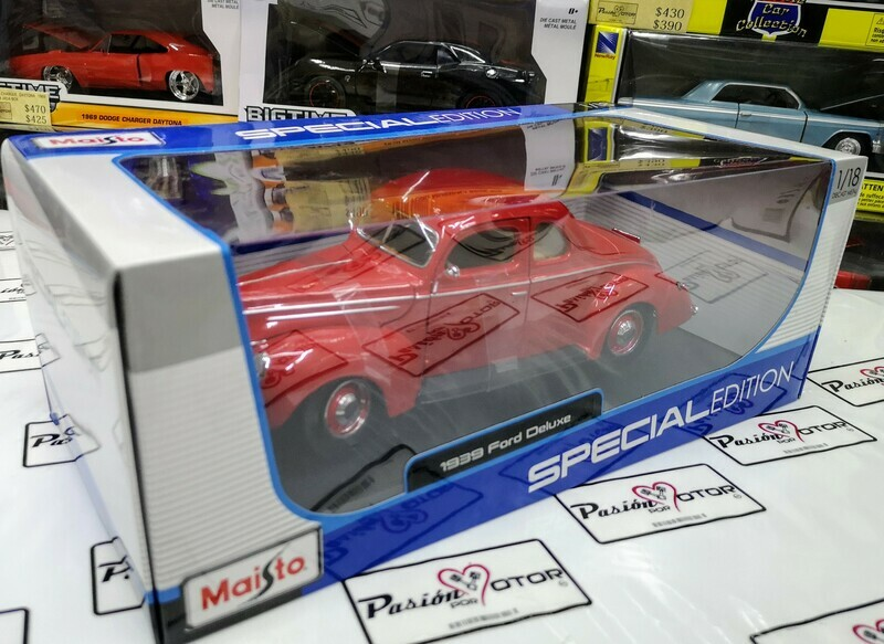 1:18 Ford Deluxe 1939 rojo Maisto Special Edition