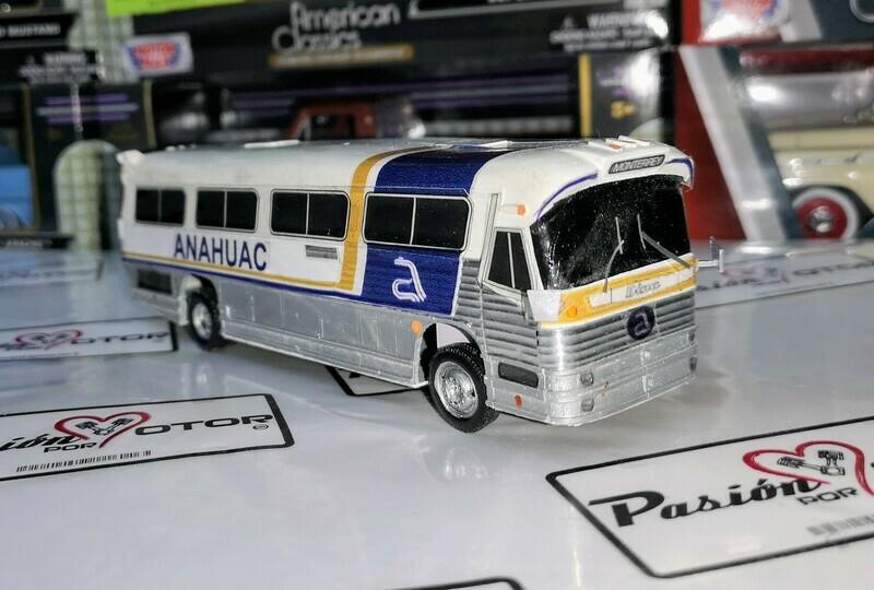 1:60 Dina Olimpico Anahuac Autobus Artesanal En Resina