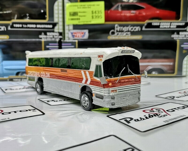 1:60 Dina Olimpico Cristobal Colon Autobus Artesanal En Resina