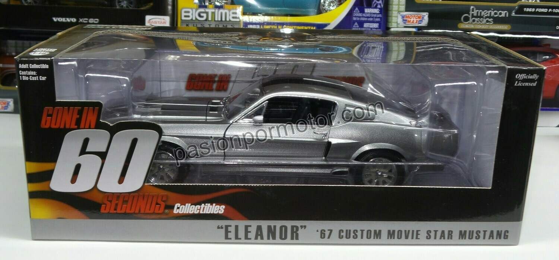1:18 Ford Mustang Custom 1967 Eleanor Gone In 60 Seconds Greenlight 60 Segundos Shelby GT500