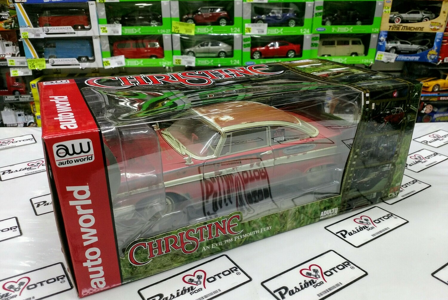 1:18 Plymouth Fury 1958 Christine An Evil Auto World Stephen King Jonkee