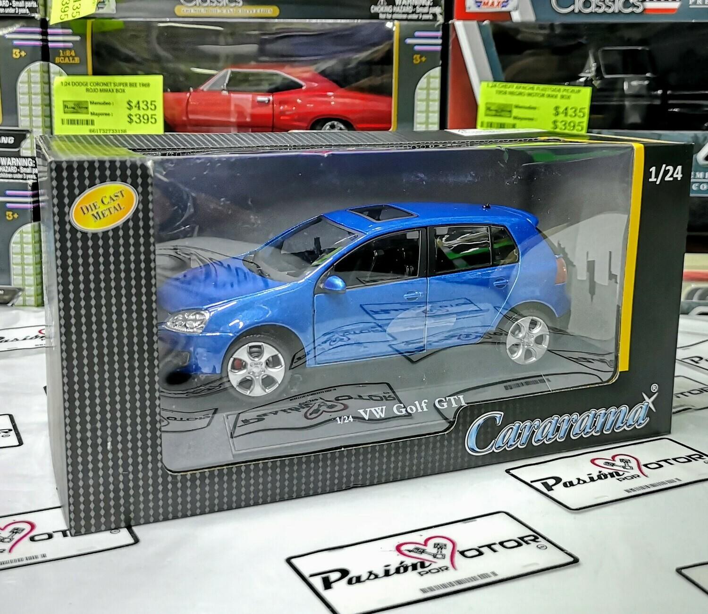 1:24 Volkswagen Golf A5 GTi 2004 Azul 4 Puertas Cararama En Caja