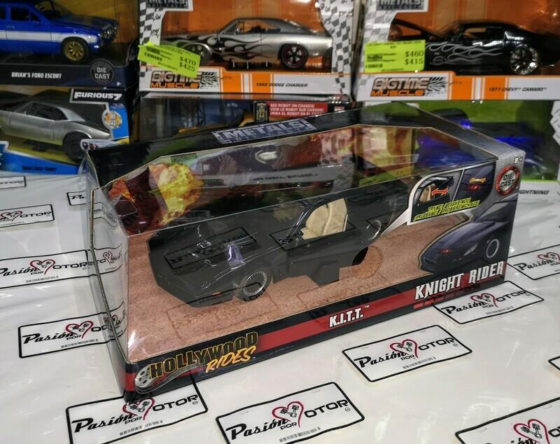 1:24 Pontiac Firebird Trans Am 1982 Knight Rider KITT Jada Toys Metals Hollywood Rides En Caja