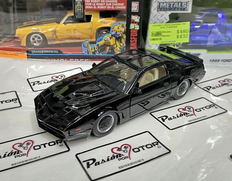 1:24 Pontiac Firebird Trans Am 1982 Knight Rider KITT Jada Toys Metals Hollywood Rides En Display / A Granel