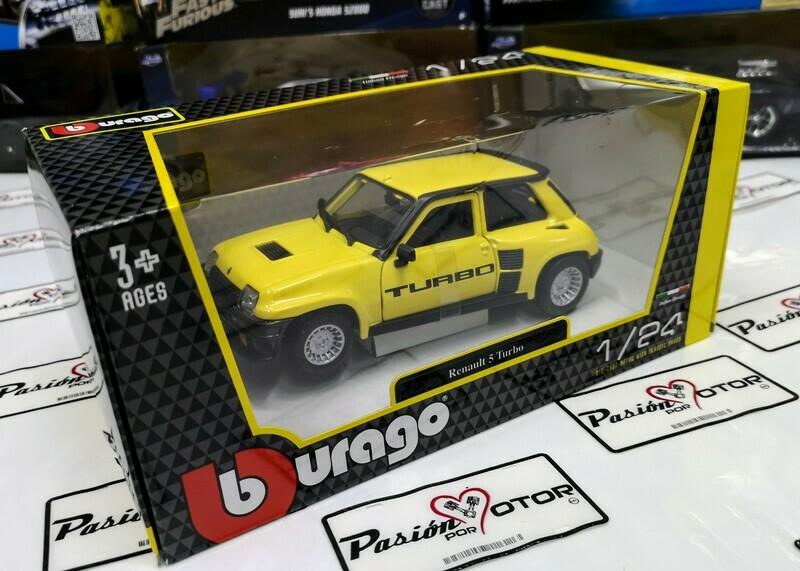 1:24 Renault 5 Turbo 1982 Amarillo Bburago En Caja