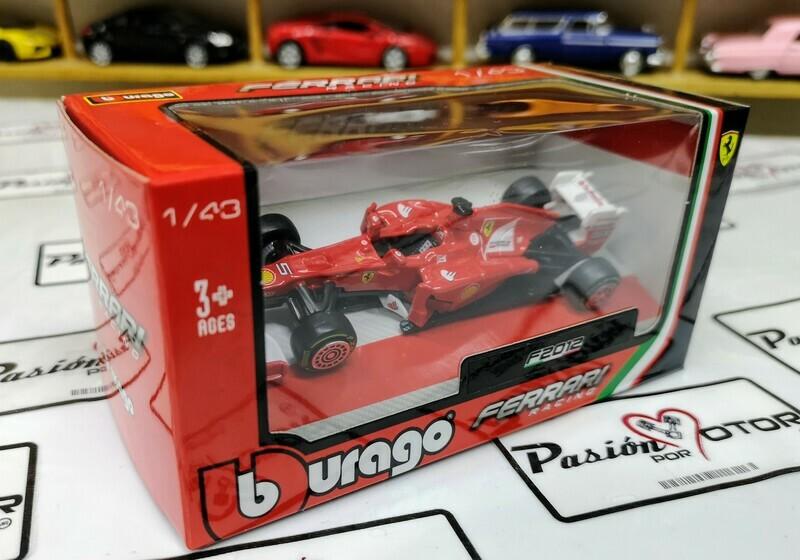1:43 Ferrari F2012 #5 Fernando Alonso Formula 1 Rojo Bburago