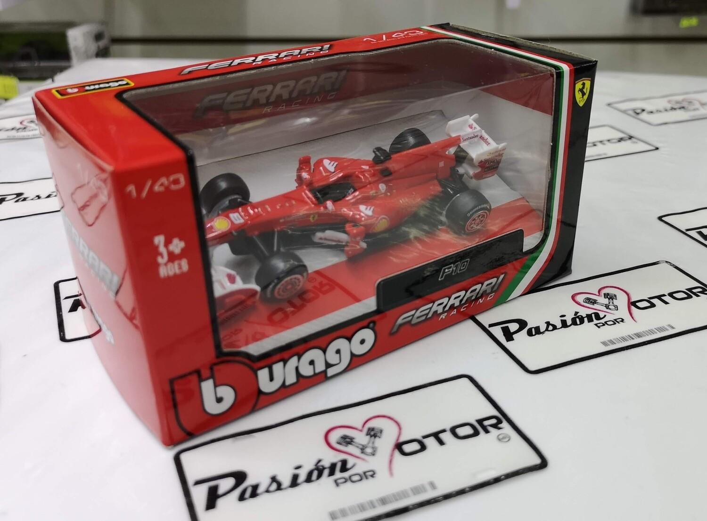 1:43 Ferrari F10 2010 #8 Fernando Alonso Formula 1 Rojo Bburago