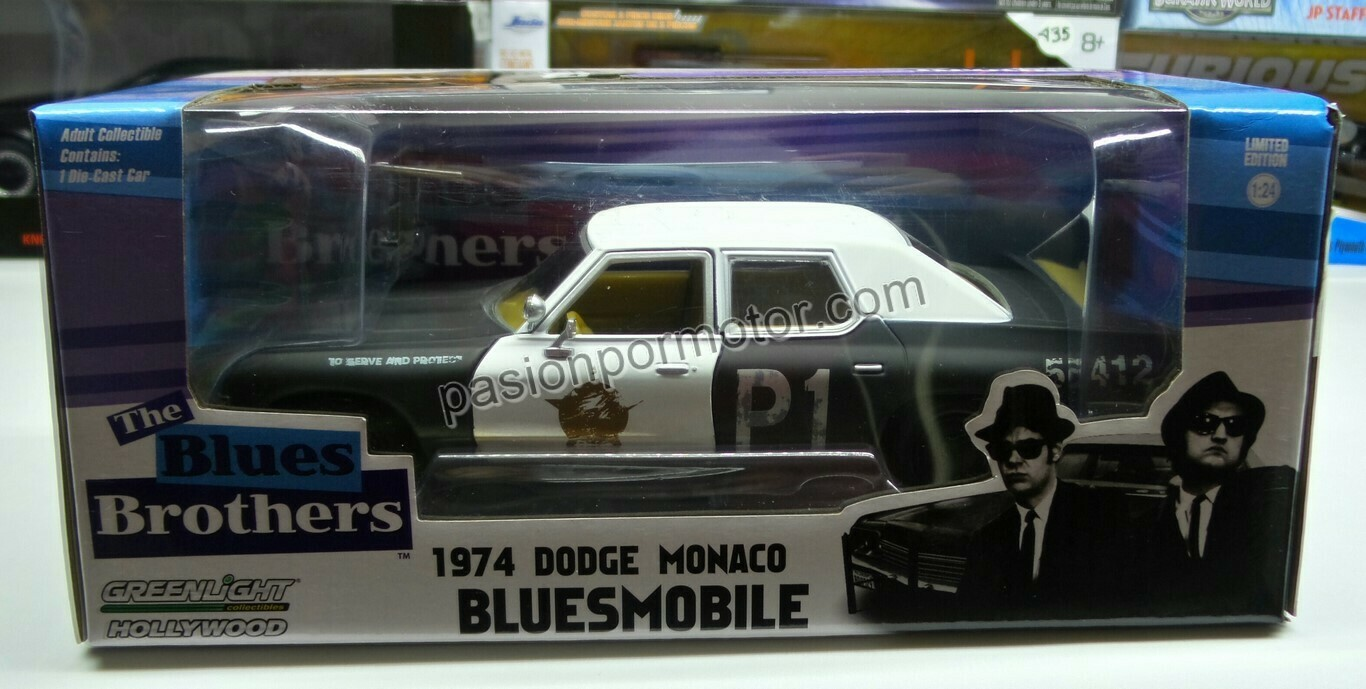 1:24 Dodge Monaco 1974 Bluesmobile Greenlight The Blues Brothers