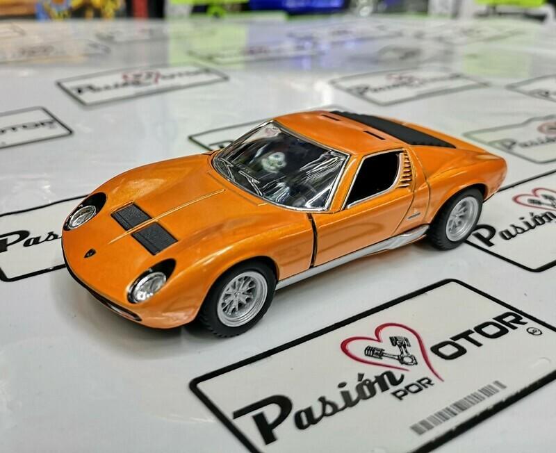 1:34 Lamborghini Miura P400 SV 1971 Naranja Kinsmart En Display a Granel 1:32