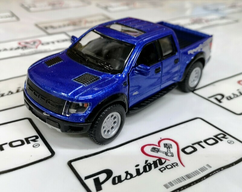 1:46 Ford F-150 SVT Raptor Super Crew 2013 Azul Kinsmart En Display a Granel 1:43