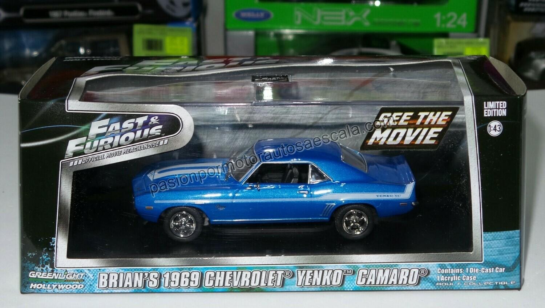 1:43 Chevrolet Camaro Yenko 1969 Brian´s Rapido y Furioso de Greenlight