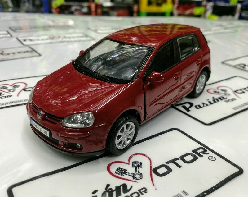 1:36 Volkswagen Golf A5 4 puertas 2004 Rojo de Welly En Display a Granel 1:32