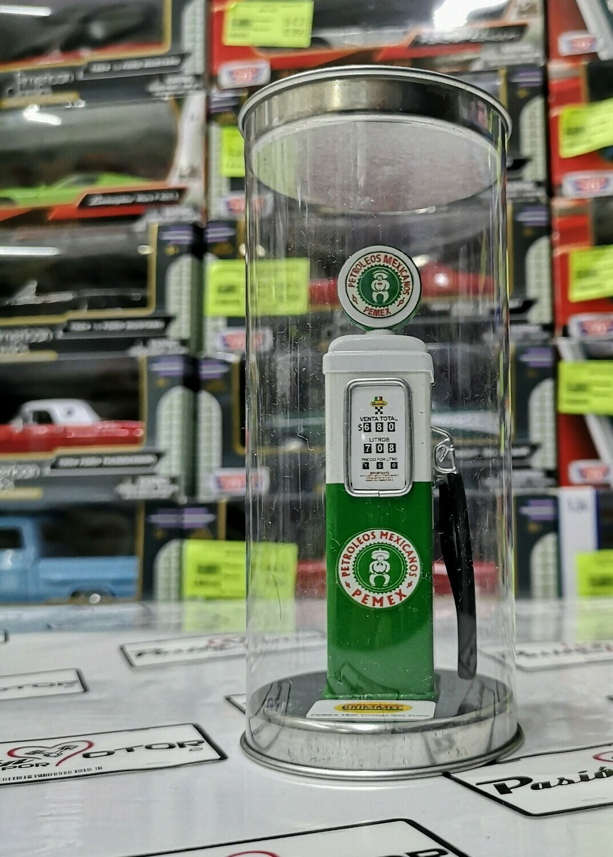 1:18 Bomba de Gasolina Vintage Clasica Verde Pemex 1960