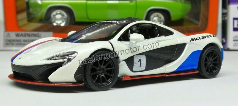 1:36 McLaren P1 2013 Blanco #1 Kinsmart En Display / a Granel 1:32
