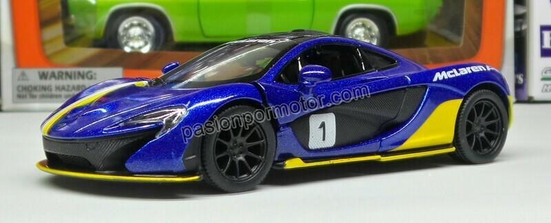1:36 McLaren P1 2013 Azul #1 Kinsmart En Display / a Granel 1:32