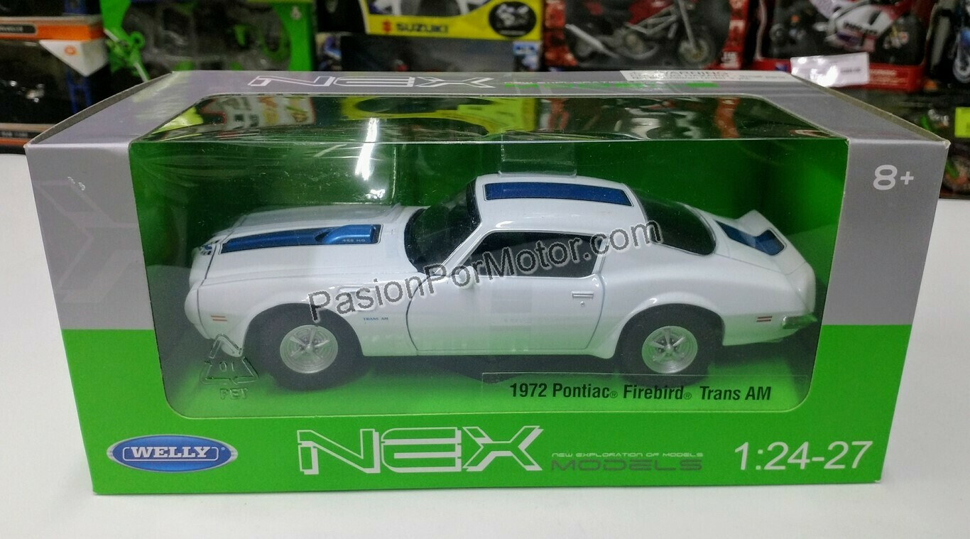 1:27 Pontiac Firebird Firebird 1972 Blanco  Welly C Caja