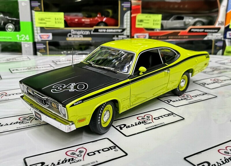 1:18 Plymouth Valiant Duster 340 1971 Verde Auto World
