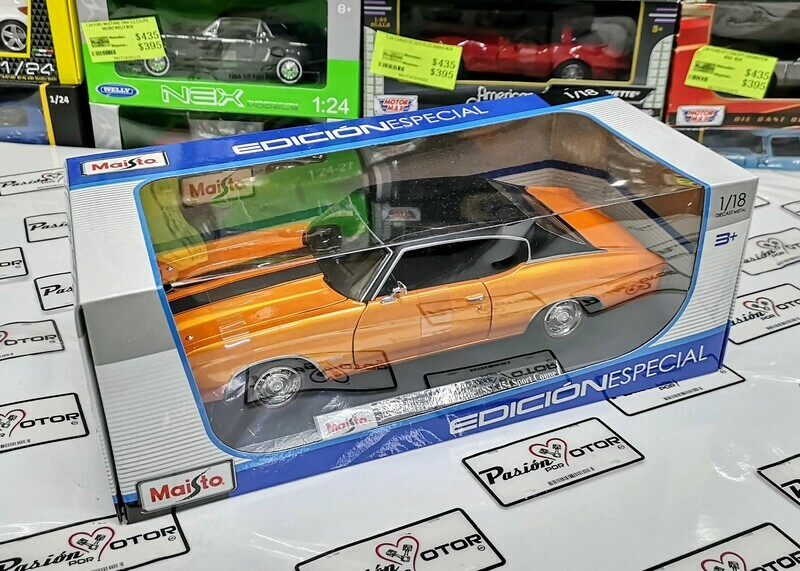 1:18 Chevrolet Chevelle SS Coupe 1971 Naranja Maisto Special Edition